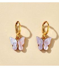 acrylic butterfly small clip earrings