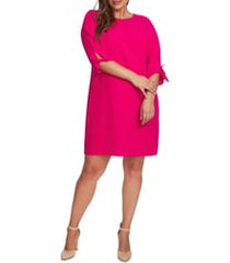 plus size women's cece tie sleeve shift dress, size 16w - pink