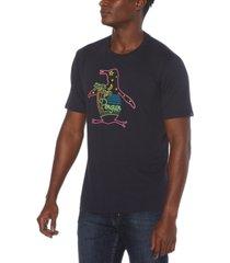 original penguin men's neon pete graphic t-shirt