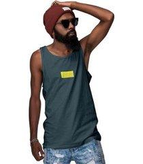 camiseta regata texturizada cinza e amarelo di nuevo - masculino