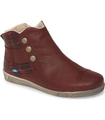 cloud aline bootie, size 10.5-11us in bordeaux chess leather at nordstrom