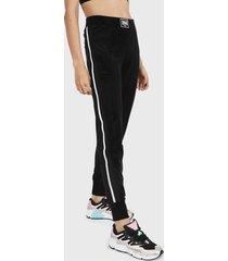 pantalón everlast sunny negro - calce regular