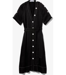 dobby crepe convertible shirt dress