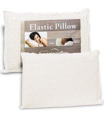 travesseiro americanflex elastic pillow 17cm de altura branco