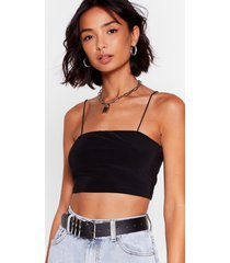 and i square down crop top - black