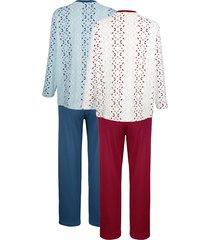 pyjamas roger kent 1 ljusblå/marinblå, 1 vit/bordeaux