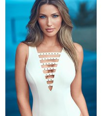romancing the stone veracruz medium control one-piece swimsuit