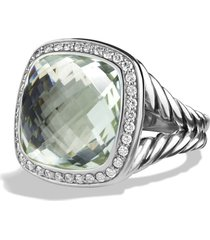 women's david yurman albion ring with semiprecious stone and diamonds