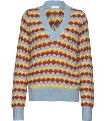 2nd beau stickad tröja multi/mönstrad 2ndday