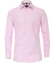 casamoda overhemd subtiele strepen details kent comfort fit roze