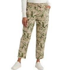 lucky brand teigen printed drawstring pants