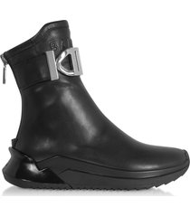 balmain designer shoes, black b-glove nappa sneakers