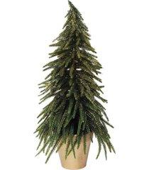 pinheiro em vaso decoraã§ã£o natal verde - verde - dafiti