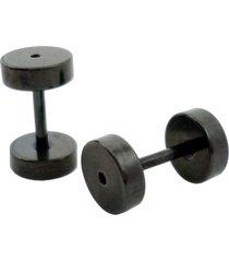 brinco tuliska estilo alargador - 6 mm preto