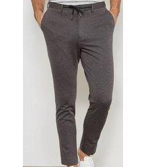 selected zachte grijze tapered broek
