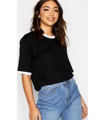 basic ringer t-shirt, black