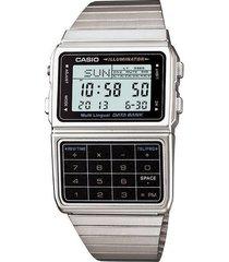 reloj casio calculadora dbc-611-1d-gris  envio gratis*
