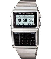 reloj casio calculadora dbc-611-1d-gris
