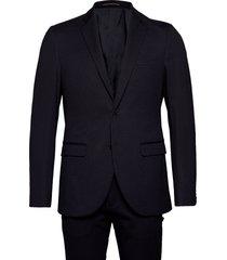 stripe jersey suit kostym blå matinique