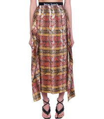 palm angels skirt in multicolor polyester