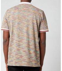 missoni men's stripe jersey pique polo shirt - multi - l