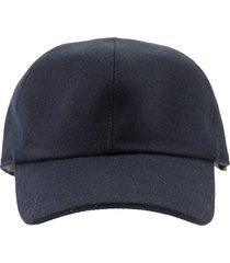 brunello cucinelli hat wool flannel baseball cap