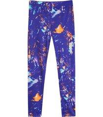 leggings deportivo estampado azul color morado, talla xs