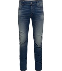 arc 3d slim slimmade jeans blå g-star raw