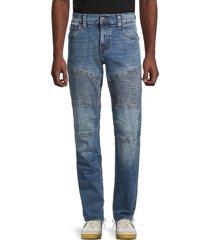 true religion men's geno moto slim straight jeans - denim blue - size 38