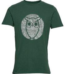 alder wave owl tee - gots/vegan t-shirts short-sleeved grön knowledge cotton apparel