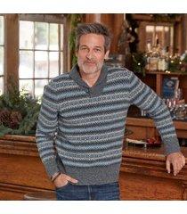 sundance catalog men's finlay sweater in blue 2xl