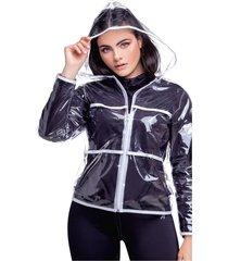 chaqueta adulto femenino transparente marketing  personal