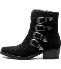 botin laya black chancleta