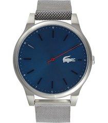 lacoste men's kyoto stainless steel & mesh bracelet watch