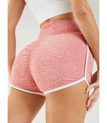 shorts de cintura alta con pliegues yoins