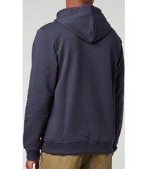 kenzo men's tiger seasonal hoodie - blue black - xxl