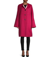 flared wool & cashmere-blend coat