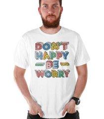 camiseta bandup! bdp clothing don´t happy masculina