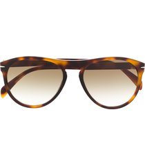 eyewear by david beckham db 1008/s soft pilot sunglasses - brown