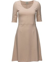 scarlett jersey dress jurk knielengte beige lexington clothing