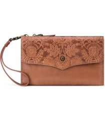 the sak ventura smartphone leather crossbody wallet