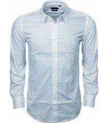 antony morato overhemd slim-fit lichtblauw