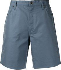 emporio armani logo-plaque stretch-cotton bermuda shorts - blue