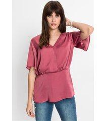 satijnen blouse met drapering