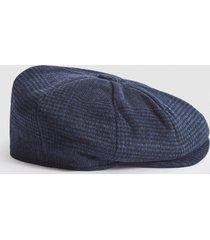 reiss callum - christys' baker boy cap in navy, mens, size m/l