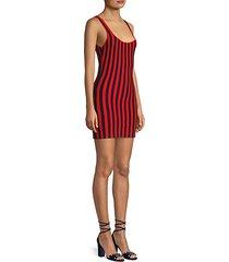 striped knit mini tank dress