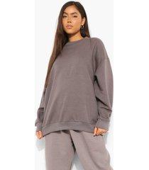 basic oversized sweater, charcoal