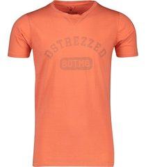 dstrezzed t-shirt oranje met tekst