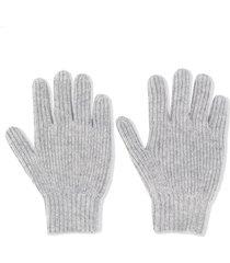 bonpoint chunky knit gloves - grey