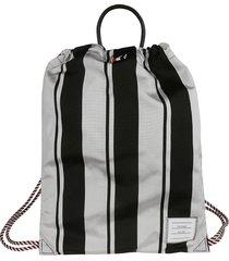 thom browne drawcord backpack